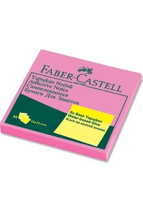 Faber-Castell Yapışkan Notluk 75x75mm. Fosforlu Pembe