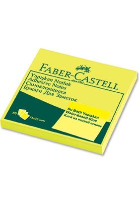 Faber-Castell Yapışkan Notluk 75x75mm. Fosforlu Sarı