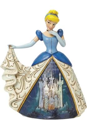 Enesco Disney Traditions Cinderella with Castle Dress Figurine