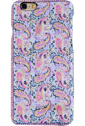 Carpet Case iPhone 6/6S Lidya El Yapımı Kilim Desenli Kumaş Dokuma Arka Kapak
