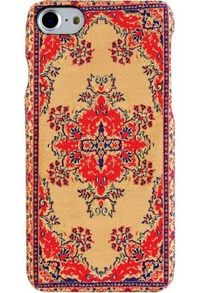 Carpet Case iPhone 7/8 Hattuşaş El Yapımı Kilim Desenli Kumaş Dokuma Arka Kapak