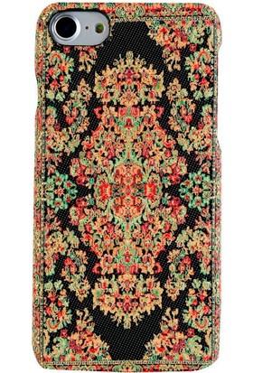Carpet Case iPhone 7/8 Bodrum El Yapımı Kilim Desenli Kumaş Dokuma Arka Kapak
