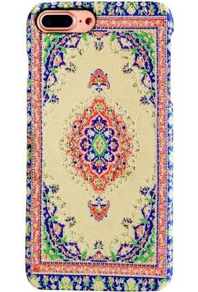 Carpet Case iPhone 7 Plus/8 Plus Kirmir El Yapımı Kilim Desenli Kumaş Dokuma Arka Kapak
