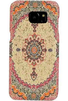 Carpet Case Samsung Galaxy S7 Edge Amastris El Yapımı Kilim Desenli Kumaş Dokuma Arka Kapak
