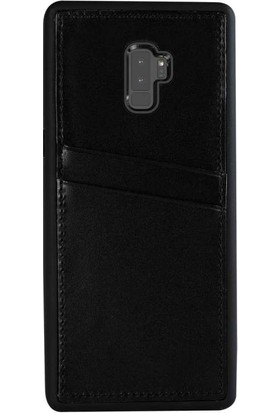Justin Case Samsung Galaxy S9 Plus Kapak Back Cover CC Deri Beta Kartlıklı Antique Siyah