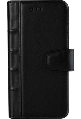 Book Case Samsung Galaxy S9 Plus Deri Library Yoland Siyah Cüzdanlı Kılıf
