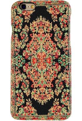 Carpet Case iPhone 6/6S Bodrum El Yapımı Kilim Desenli Kumaş Dokuma Arka Kapak
