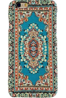 Carpet Case iPhone 6/6S Hantili El Yapımı Kilim Desenli Kumaş Dokuma Arka Kapak