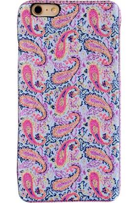 Carpet Case iPhone 6/6S Plus Lidya El Yapımı Kilim Desenli Kumaş Dokuma Arka Kapak
