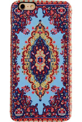 Carpet Case iPhone 6/6S Plus Saruhan El Yapımı Kilim Desenli Kumaş Dokuma Arka Kapak