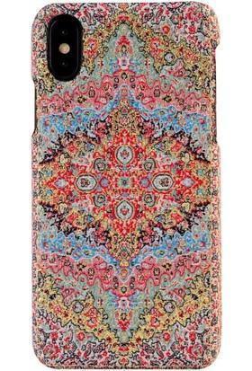 Carpet Case iPhone X Livane El Yapımı Kilim Desenli Kumaş Dokuma Arka Kapak