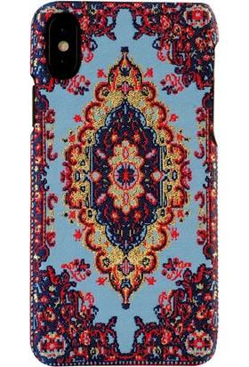Carpet Case iPhone X Saruhan El Yapımı Kilim Desenli Kumaş Dokuma Arka Kapak