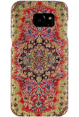 Carpet Case Samsung Galaxy S7 Truva El Yapımı Kilim Desenli Kumaş Dokuma Arka Kapak