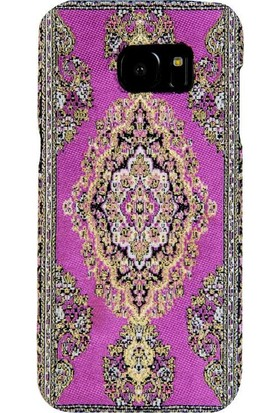 Carpet Case Samsung Galaxy S7 Bent El Yapımı Kilim Desenli Kumaş Dokuma Arka Kapak