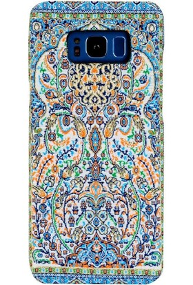 Carpet Case Samsung Galaxy S8 Alaiye El Yapımı Kilim Desenli Kumaş Dokuma Arka Kapak
