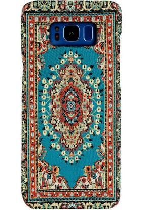 Carpet Case Samsung Galaxy S8 Hantili El Yapımı Kilim Desenli Kumaş Dokuma Arka Kapak