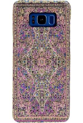Carpet Case Samsung Galaxy S8 Galata El Yapımı Kilim Desenli Kumaş Dokuma Arka Kapak