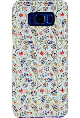 Carpet Case Samsung Galaxy S8 Berceste El Yapımı Kilim Desenli Kumaş Dokuma Arka Kapak