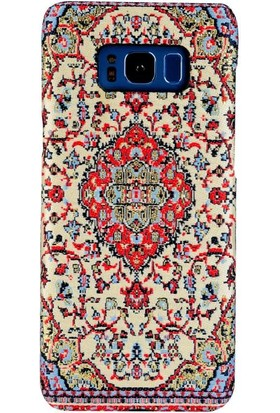 Carpet Case Samsung Galaxy S8 Plus Akronium El Yapımı Kilim Desenli Kumaş Dokuma Arka Kapak