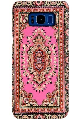 Carpet Case Samsung Galaxy S8 Plus Anadolu El Yapımı Kilim Desenli Kumaş Dokuma Arka Kapak