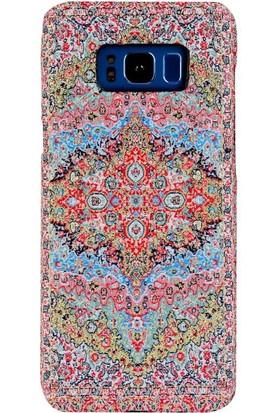 Carpet Case Samsung Galaxy S8 Plus Livane El Yapımı Kilim Desenli Kumaş Dokuma Arka Kapak