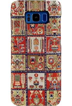Carpet Case Samsung Galaxy S8 Plus Maria El Yapımı Kilim Desenli Kumaş Dokuma Arka Kapak