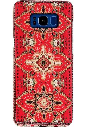 Carpet Case Samsung Galaxy S8 Plus Sedir El Yapımı Kilim Desenli Kumaş Dokuma Arka Kapak