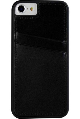 Justin Case iPhone 6/6S Kapak Back Cover CC Deri Beta Kartlıklı Antique Siyah