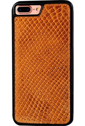 Justin Case iPhone 6/6S Plus Kapak Back Cover Deri Adams Koyu Kahverengi