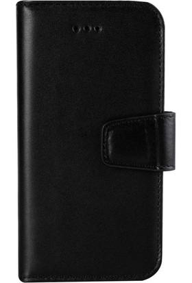 Book Case iPhone 6/6S Plus Deri Classic Fario Siyah Cüzdanlı Kılıf