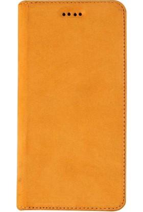 Book Case iPhone 7/8 Plus Slim Magnet Deri Palermo Taba Cüzdanlı Kılıf