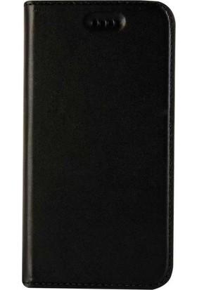 Book Case iPhone 7/8 Slim Magnet Deri Milano Siyah Cüzdanlı Kılıf