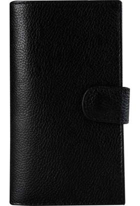 Book Case iPhone 7/8 Deri Double Wallet Belle Floter Siyah Cüzdanlı Kılıf