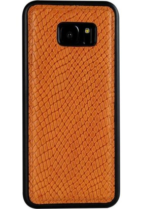 Justin Case Samsung Galaxy S7 Edge Kapak Back Cover Deri Adams Koyu Kahverengi