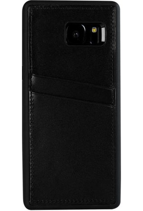 Justin Case Samsung Galaxy S7 Edge Kapak Back Cover CC Deri Beta Kartlıklı Antique Siyah
