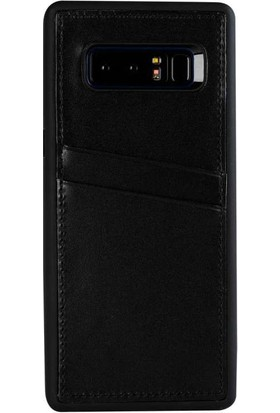 Justin Case Samsung Galaxy S8 Kapak Back Cover CC Deri Beta Kartlıklı Antique Siyah