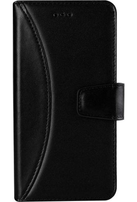 Book Case Samsung Galaxy S8 Plus Deri Moon Jacop Siyah Cüzdanlı Kılıf