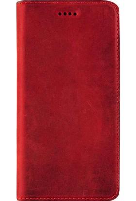 Book Case Samsung Galaxy S8 Plus Slim Magnet Deri Verona Kırmızı Cüzdanlı Kılıf