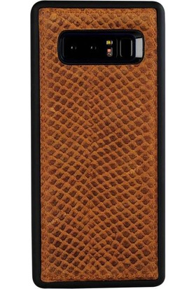 Justin Case Samsung Note 8 Kapak Back Cover Deri Honey Kahverengi