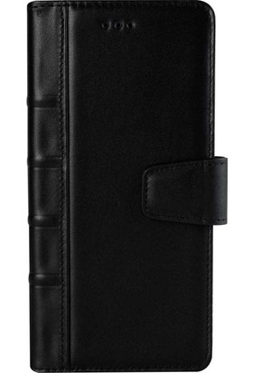 Book Case Samsung Note 8 Deri Library Yoland Siyah Cüzdanlı Kılıf
