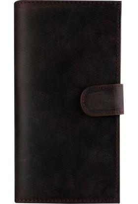 Book Case Samsung Note 8 Deri Double Wallet Eva Antique Kahverengi Cüzdanlı Kılıf