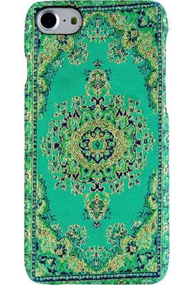 Carpet Case iPhone 7/8 Eslem El Yapımı Kilim Desenli Kumaş Dokuma Arka Kapak