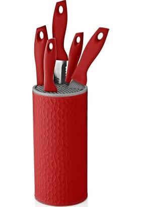 Neva N2360 Sweet Petek 6'Lı Bıçak Seti-Kırmızı