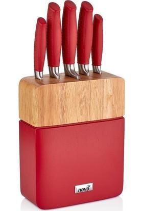 Neva N2588 Sweet Plus 5'Li Bıçak Seti -Kırmızı