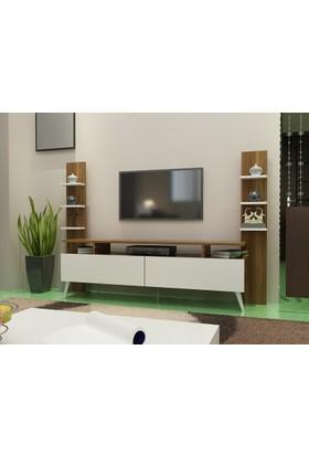 Givayo Pera Tv Ünitesi Ceviz-Beyaz 180 Cm