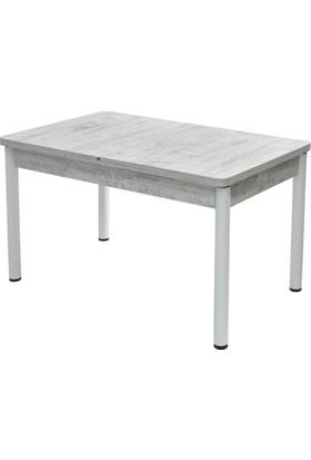 Blackstone Ahşap Beyaz Açılır Salon - Mutfak Yemek Masası