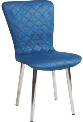 Blackstone Mavi Mutfak - Salon - Balkon - Oturma Odası Sandalyesi