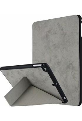 Happyshop Apple iPad Air Kılıf Kadife Desenli Standlı Kalemlikli Kapaklı