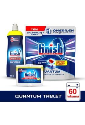 Finish Quantum 60 Tablet + Parlatıcı 800 Ml Limon+ Makine Temizleyci 250 Ml