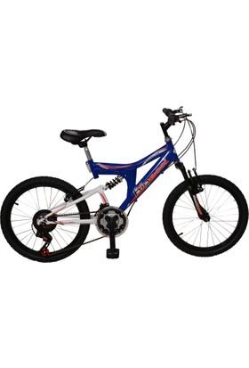 Bigessi 20 Jant Çift Amortisörlü Vitesli Çocuk Bisikleti Mavi